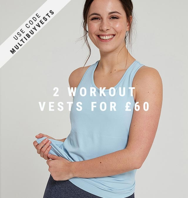 2 Vest Tops for £60 with code